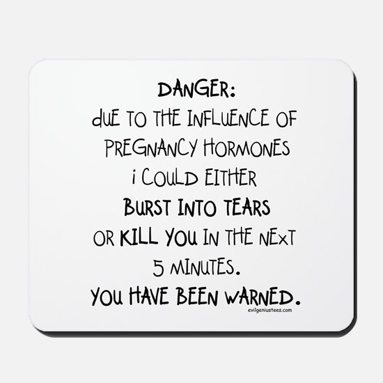 You have been warned funny pregnancy Mousepad