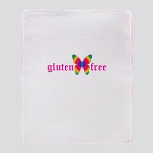 gluten-free butterfly Throw Blanket