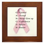 Cancer: Control, Accept, etc. Framed Tile