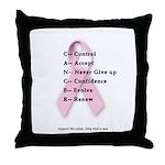 Cancer: Control, Accept, etc. Throw Pillow