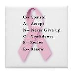 Cancer: Control, Accept, etc. Tile Coaster