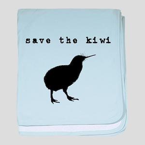 Save the Kiwi baby blanket