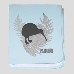 Silver Fern Kiwi baby blanket