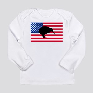 U.S. Kiwi Flag Long Sleeve Infant T-Shirt