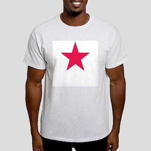 Red Star   Ash Grey T-Shirt