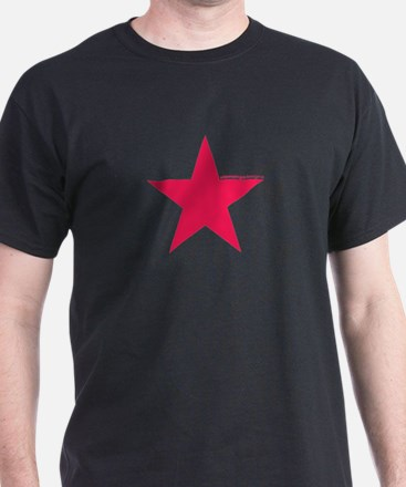 Red Star | Black T-Shirt