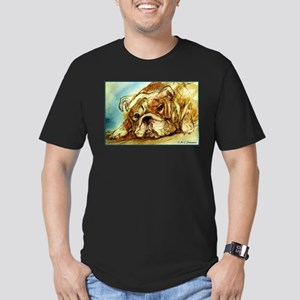 Bulldog, English Bulldog, Men's Fitted T-Shirt (da