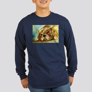 Bulldog, English Bulldog, Long Sleeve Dark T-Shirt