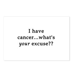 What's YOUR excuse? Postcards (Package of 8)