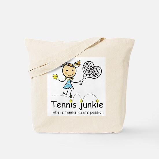 Tennis Junkie Tote Bag