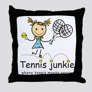Tennis Junkie Throw Pillow