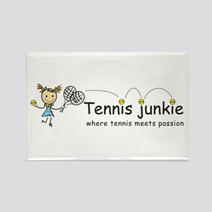 Tennis Junkie Rectangle Magnet