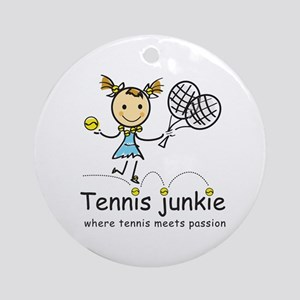 Tennis Junkie Ornament (Round)