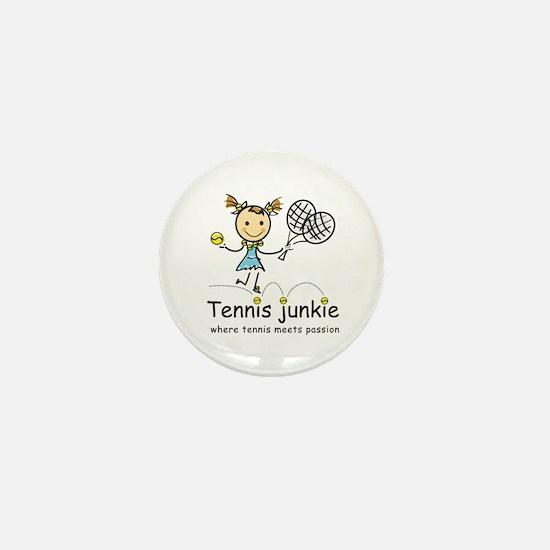 Tennis Junkie Mini Button