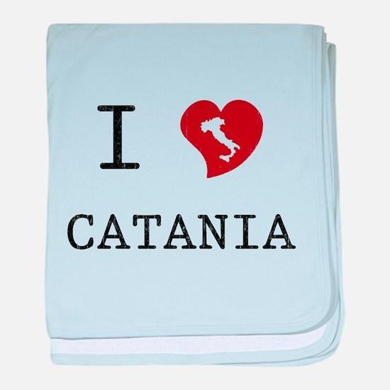 I Love Catania baby blanket