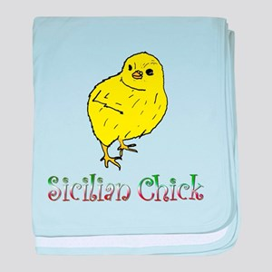 Sicilian Chick baby blanket