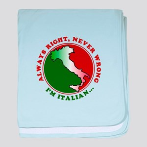 Always Right, Never Wrong baby blanket