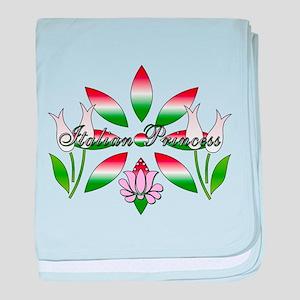 Italian Princess Floral baby blanket