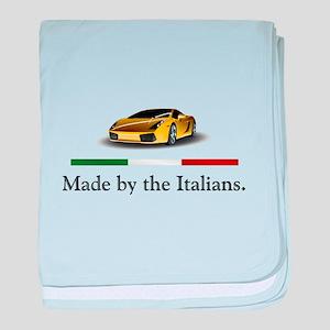 Lamborghini Italian baby blanket