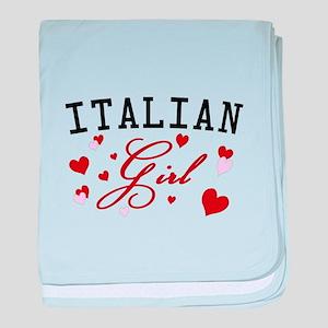 Italian Girl baby blanket