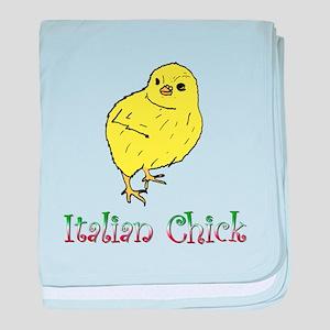 Italian Chick baby blanket