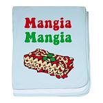 Mangia Mangia Italian baby blanket