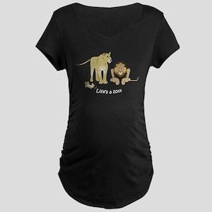 Mini Lion Pride Maternity Dark T-Shirt