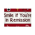 Smile if you're in Remission Rectangle Magnet (100