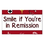 Smile if you're in Remission Rectangle Sticker