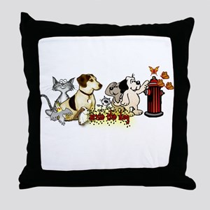Arnie and Friends Throw Pillow