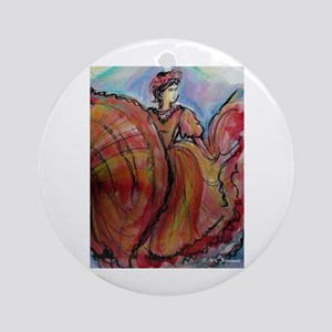 Fiesta, Dancer, Colorful, Ornament (Round)