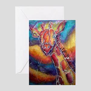 Giraffe, Bright, Fun, Greeting Card