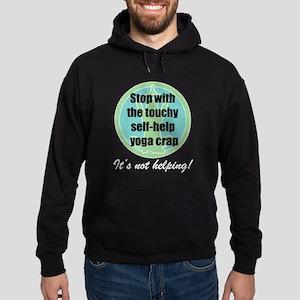Self-Help Yoga Crap Hoodie (dark)