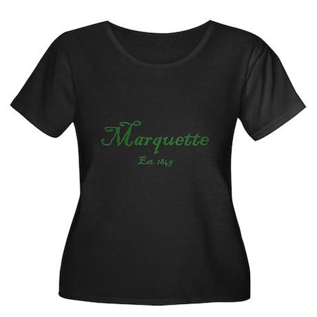 Marquette Green Font Est. 1849 Women's Plus Size S