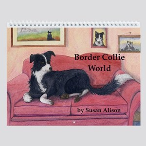 Border Collie World Wall Calendar