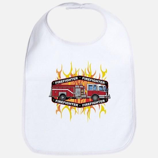 Fire Engine Truck Bib