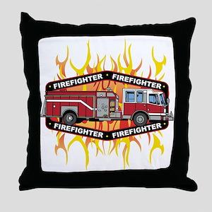 Fire Engine Truck Throw Pillow