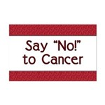 Say No to Cancer Mini Poster Print
