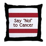 Say No to Cancer Throw Pillow