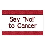 Say No to Cancer Rectangle Sticker
