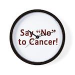 Say No to Cancer Wall Clock