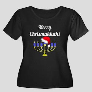 Merry Ch Women's Plus Size Scoop Neck Dark T-Shirt