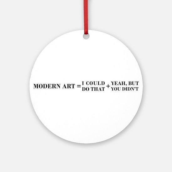 Modern Art Ornament (Round)