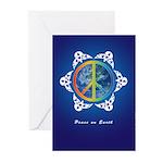 Peace around the Globe Greeting Cards (Pk of 10)