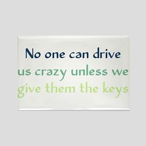 Drive Us Crazy Rectangle Magnet