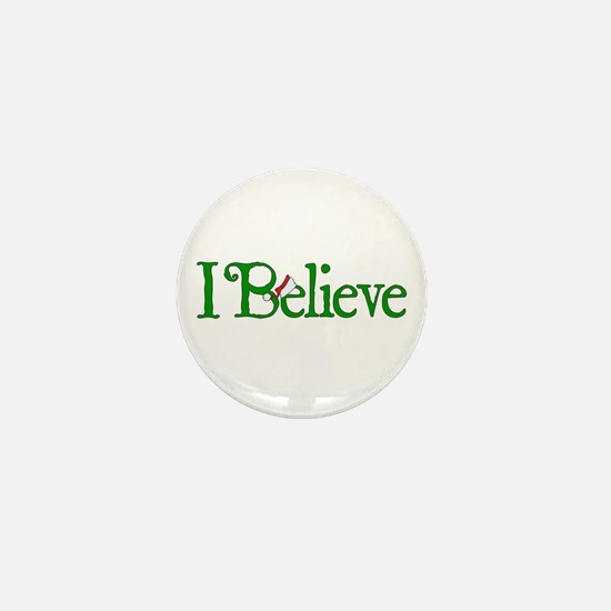 I Believe with Santa Hat Mini Button
