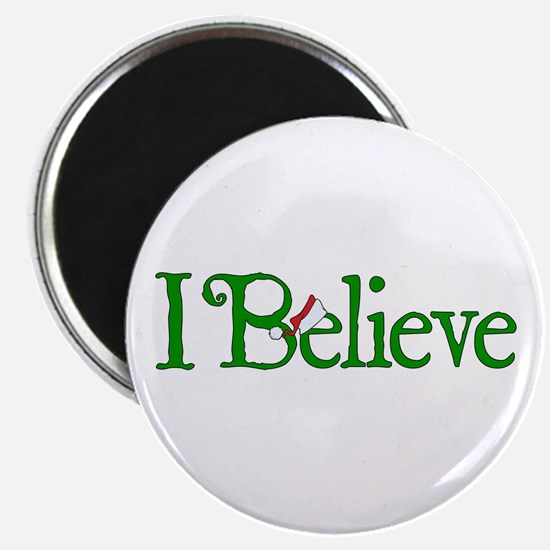 I Believe with Santa Hat Magnet