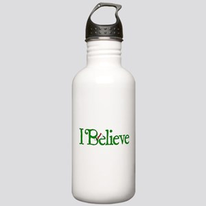 I Believe with Santa Hat Stainless Water Bottle 1.