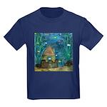 Fish and Secret Castle Kids Dark T-Shirt