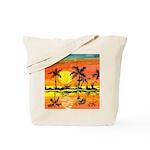 Tropical Beach Sunset Tote Bag